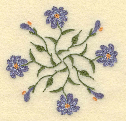 Embroidery Design: Forget Me Not Round Cluster Small3.50w X 3.48h