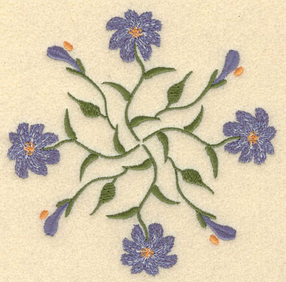 Embroidery Design: Forget Me Not Round Cluster Large5.25w X 5.22h