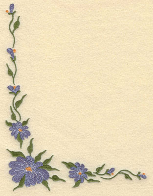Embroidery Design: Forget Me Not Corner Cluster Small5.72w X 7.51h