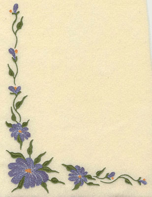 Embroidery Design: Forget Me Not Corner Cluster Large7.45w X 9.76h