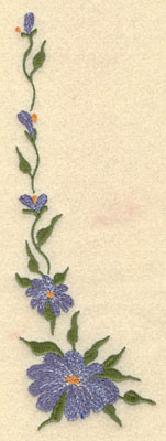 Embroidery Design: Forget Me Not Vertical Small2.45w X 7.51h