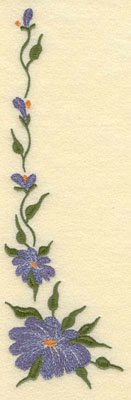 Embroidery Design: Forget Me Not Vertical Large3.17w X 9.76h