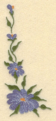 Embroidery Design: Forget Me Not Vertical Short Small2.45w X 5.74h