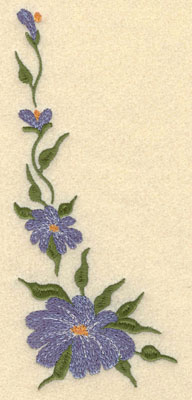 Embroidery Design: Forget Me Not Vertical Short Large3.17w X 7.46h
