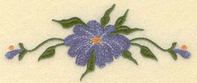 Embroidery Design: Forget Me Not Single w/ Buds Large6.01w X 2.51h