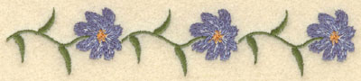 Embroidery Design: Forget Me Not Row Large6.00w X 1.33h