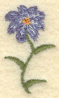 Embroidery Design: Forget Me Not Single Flower Small0.78w X 2.00h