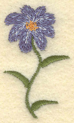 Embroidery Design: Forget Me Not Single Flower Large1.17w X 2.00h