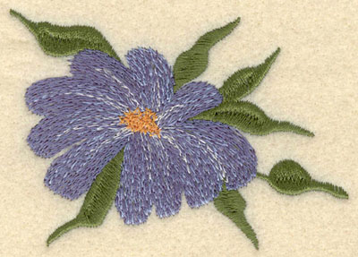 Embroidery Design: Forget Me Not Bloom Large3.60w X 2.55h
