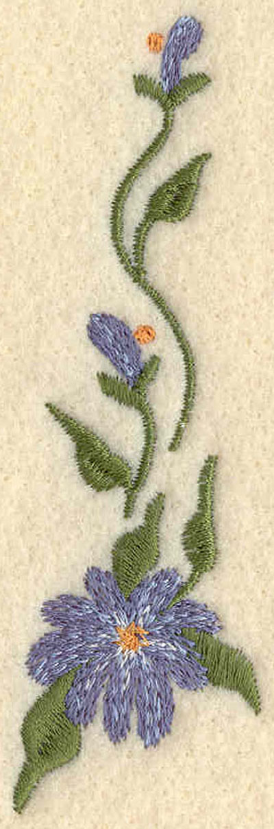 Embroidery Design: Forget Me Not Horizontal Small4.00w X 1.22h
