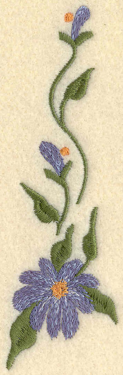 Embroidery Design: Forget Me Not Horizontal Large5.21w X 1.60h