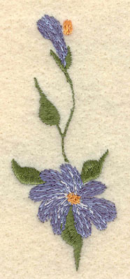 Embroidery Design: Forget Me Not Vertical Small1.31w X 3.25h