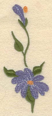 Embroidery Design: Forget Me Not Vertical Large2.02w X 5.01h