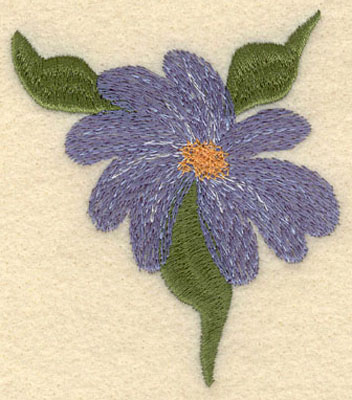 Embroidery Design: Forget Me Not Bloom w/3 Leaves Large3.00w X 3.51h