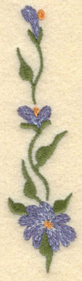 Embroidery Design: Forget Me Not Vertical Small1.04w X 4.03h