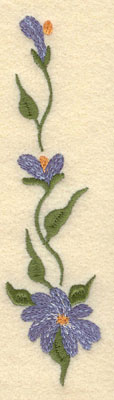 Embroidery Design: Forget Me Not Vertical Large1.54w X 6.01h