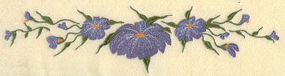 Embroidery Design: Forget Me Not Horizontal Large10.7w X 2.68h
