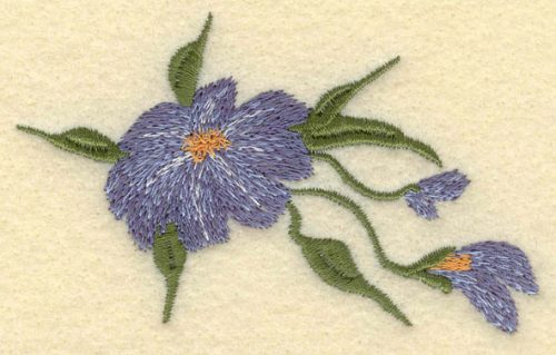Embroidery Design: Forget Me Not3.50w X 2.31h