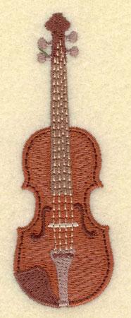 Embroidery Design: Violin Small1.32w X 3.80h
