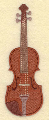 Embroidery Design: Violin Large5.68w X 1.98h