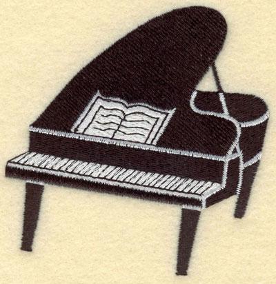 Embroidery Design: Piano Black Small3.36w X 3.48h