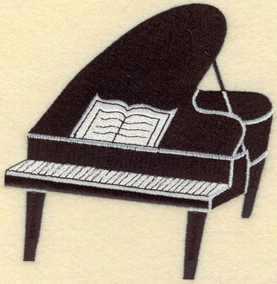 Embroidery Design: Piano Black Large5.04w X 5.22h