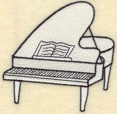 Embroidery Design: Piano White Small3.50w X 3.40h