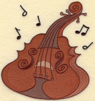 Embroidery Design: Cello Large5.53w X 5.74h