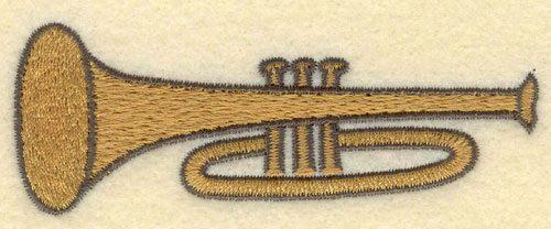 Embroidery Design: Trumpet Small3.80w X 1.40h