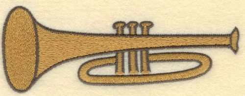 Embroidery Design: Trumpet Large5.69w X 2.10h