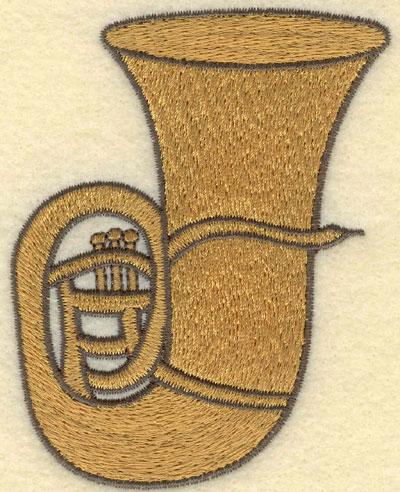 Embroidery Design: Tuba Small2.84w X 3.73h