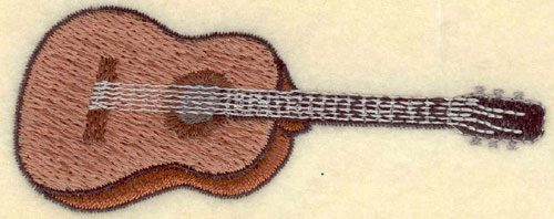 Embroidery Design: Guitar Small3.78w X 1.49h