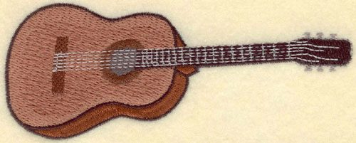 Embroidery Design: Guitar Large5.68w X 2.23h