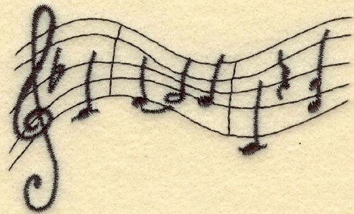 Embroidery Design: Bars of Music Small3.50w X 2.12h