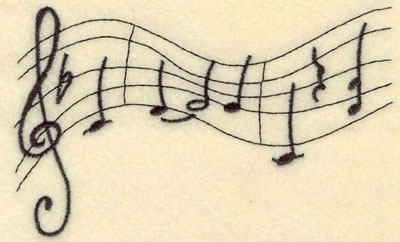 Embroidery Design: Bars of Music Large5.26w X 3.18h