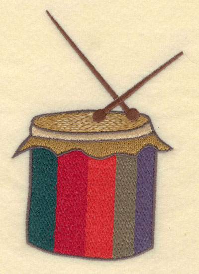 Embroidery Design: Latin Drum Large3.82w X 5.60h