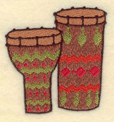 Embroidery Design: Bongo and Conga Drums Small3.11w X 3.24h
