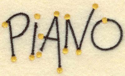 Embroidery Design: Piano music 2.59w X 1.50h