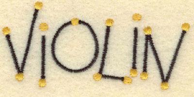 Embroidery Design: Violin2.83w X 1.32h