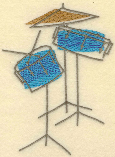 Embroidery Design: Drums Jazzy Large4.10w X 5.57h