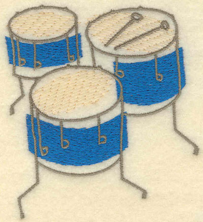Embroidery Design: Drums Small3.08w X 3.48h