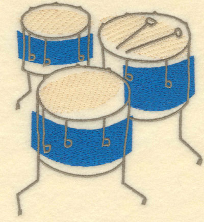 Embroidery Design: Drums Large4.61w X 5.22h