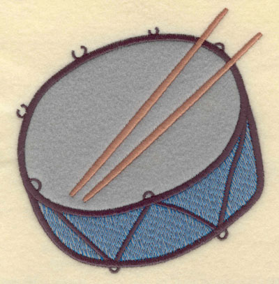 Embroidery Design: Drum Snare Single Applique4.75w X 5.10h