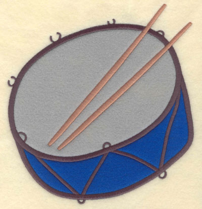 Embroidery Design: Drum Snare Double Applique Large6.99w X 7.50h
