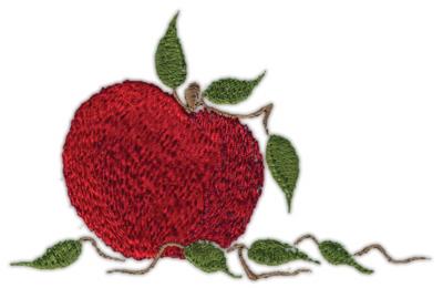 "Embroidery Design: Apple4.54"" x 2.95"""