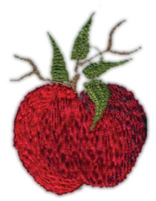 "Embroidery Design: Apple (small)1.45"" x 2.01"""