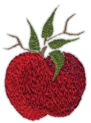 "Embroidery Design: Apple (Smaller)2.03"" x 2.82"""