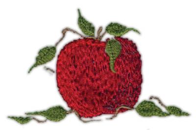 "Embroidery Design: Apple 52.98"" x 1.97"""
