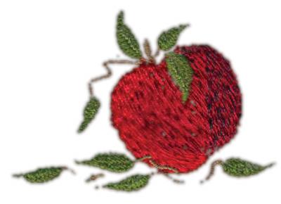 "Embroidery Design: Apple 72.28"" x 1.57"""