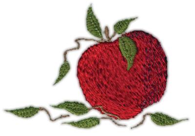 "Embroidery Design: Apple 83.19"" x 2.19"""